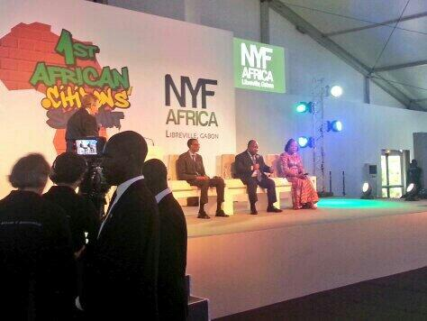 Les présidents @PaulKagame, Ali Bongo Ondimba et Catherine #Samba-Panza à #Libreville #Gabon @NYFA..