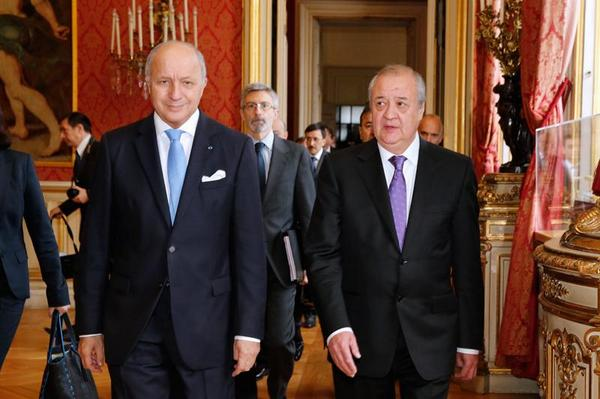 #Ouzbékistan J'ai reçu mon homologue ouzbek Abdoulaziz #Kamilov #Syrie #Irak #diploéco http:..