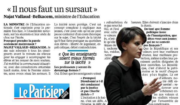 « Il nous faut un sursaut » – Entretien au Parisien sur la mobilisation de l'École http://t...