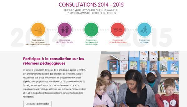 Projets de programmes de l'école élémentaire & du collège : la consultation nationale lancée h..