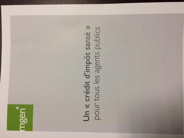 Je soutiens la proposition de la #MGEN en faveur d'un crédit d'impôt santé CC @groupe_..