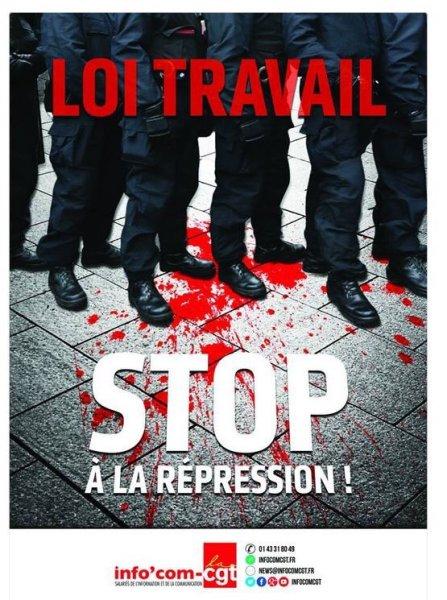 La #CGT continue ds la radicalisation et récidive ac une nouvelle #affiche inacceptable. Gvt doit ..