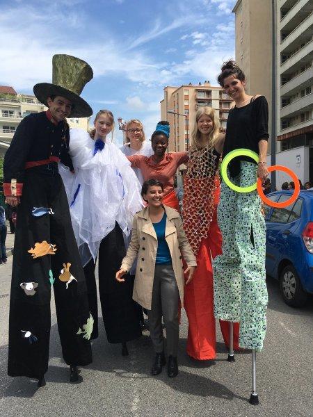 Immense joie de participer avec les habitants à la fête du quartier Ferrandière-Maisons Neuves #Vi..