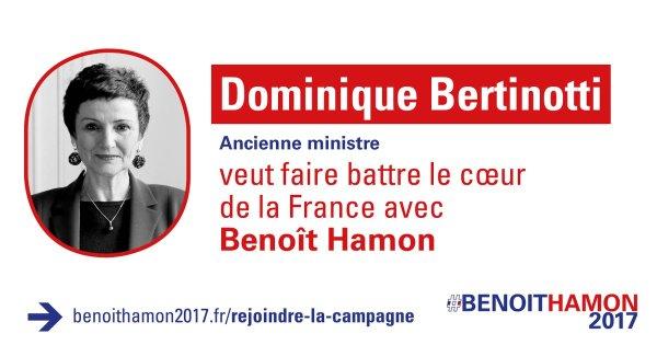 Très fier du soutien de @DBertinotti, ancienne ministre de la famille #Hamon2017 https://t.co/89Vo..