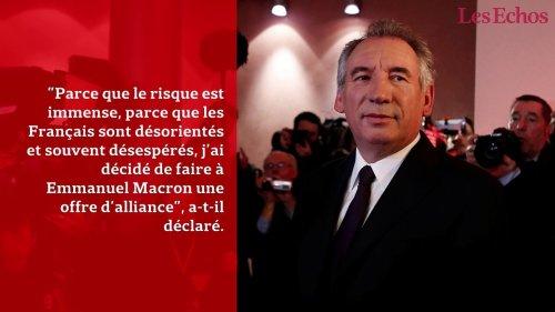 Bayrou rejoint Macron : ce qu'il faut retenir