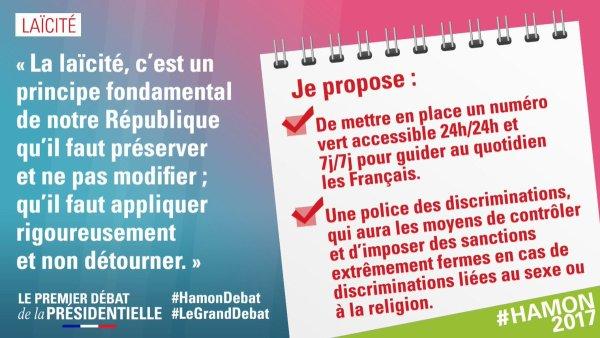 Je suis pour la loi de 1905, toute la loi de 1905, rien que la loi de 1905. #LeGrandDebat #HamonDe..