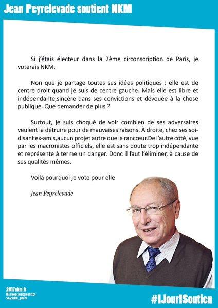 Merci à Jean Peyrelevade pour son soutien. L'indépendance a plusieurs vertus, notamment la l..